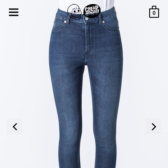 Cheap Monday Denim - Cheap Monday ☠️ high rise denim jeans